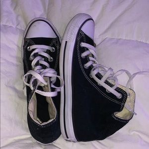 black high top converse!! size 8 women's